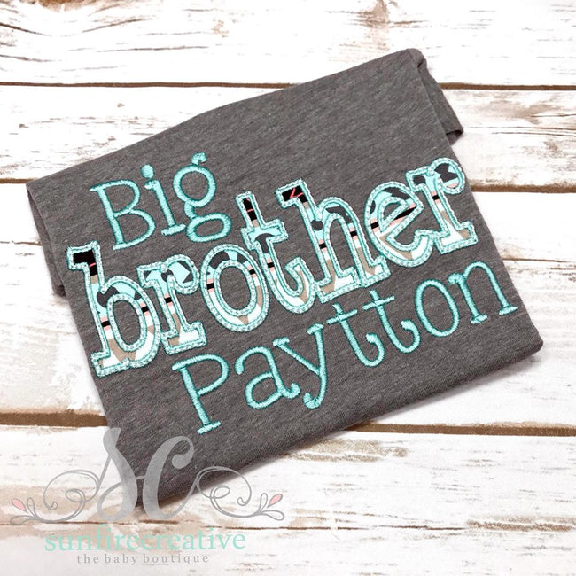 Big Brother Shirt - Sibling Outfit - Sunfire Creative Baby Boutique