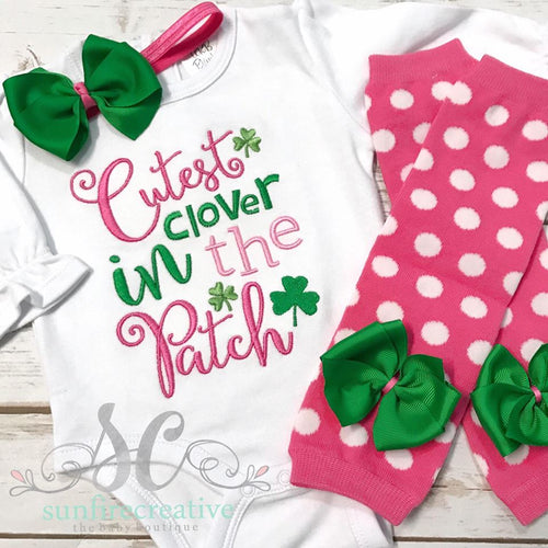 Cutest Clover in the Patch Outfit - St Patricks Outfit