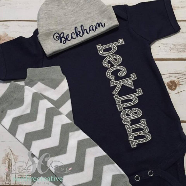 Personalized Baby Outfit - Baby Shower Gift - Sunfire Creative Baby Boutique
