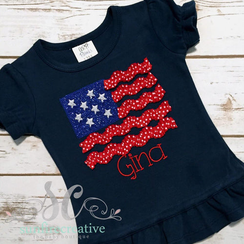 Girl's Fourth of July Shirt - 4th of July Shirt