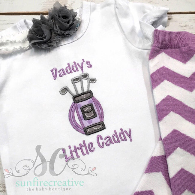 Daddy's Girl Shirt - Baby Girl Golf Shirt - Sunfire Creative Baby Boutique