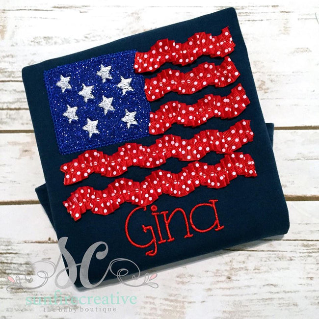 Girl's Fourth of July Shirt - 4th of July Shirt - Sunfire Creative Baby Boutique