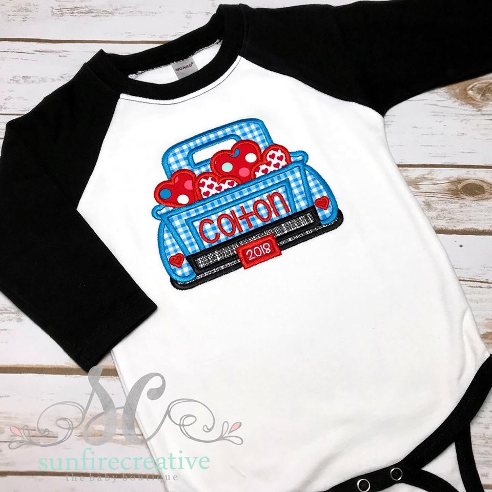 551e9e786f Boy's Valentine Shirt - Valentine Truck Outfit - Valentine Shirt - Sunfire  Creative Baby Boutique