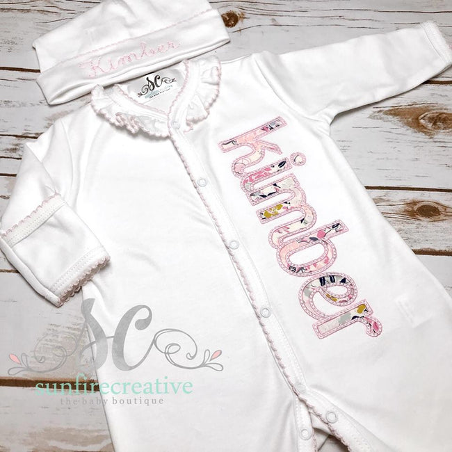 Baby Girl Outfit - Coming Home Outfit - Sunfire Creative Baby Boutique