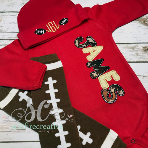 Boy Coming Home Outfit - Football Outfit