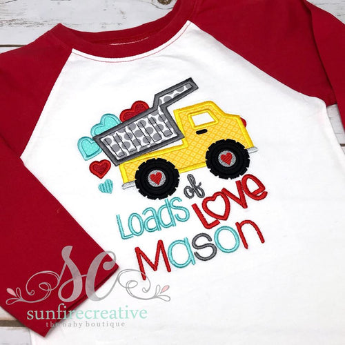 Boy's Valentine Shirt - Loads of Love Shirt