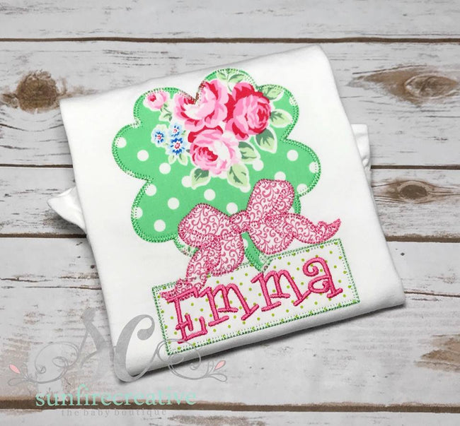 Girls St Patrick's Day Shirt - Clover Shirt - Sunfire Creative Baby Boutique