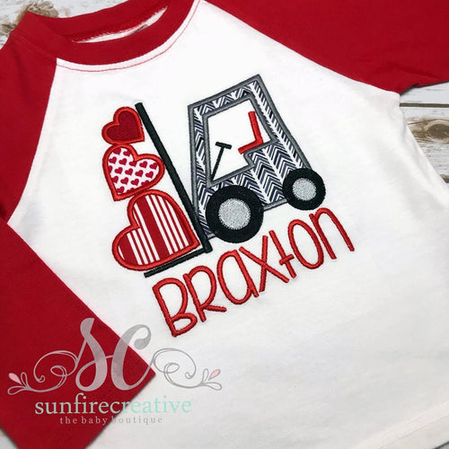 Boy Valentine Shirt - Forklift Heart Shirt