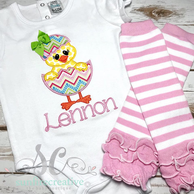 Girl Easter Outfit - Easter Chick Shirt