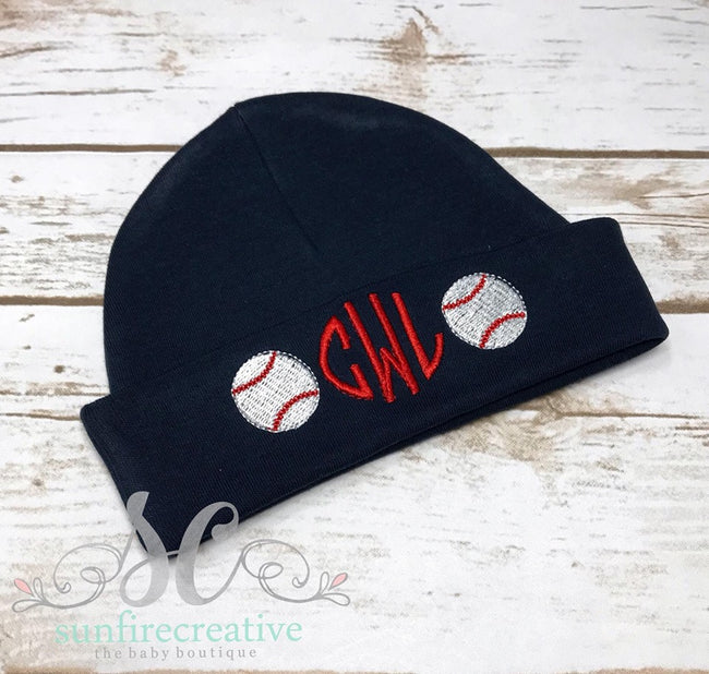 Personalized Baby Hat - Boy Baby Hat - Sunfire Creative Baby Boutique
