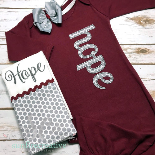 Coming Home Outfit for Girls - Personalized Baby Girl Gown