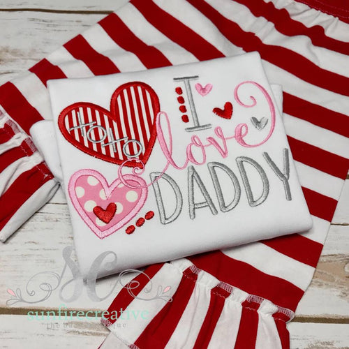 Daddys Girl Outfit - I love Daddy Shirt