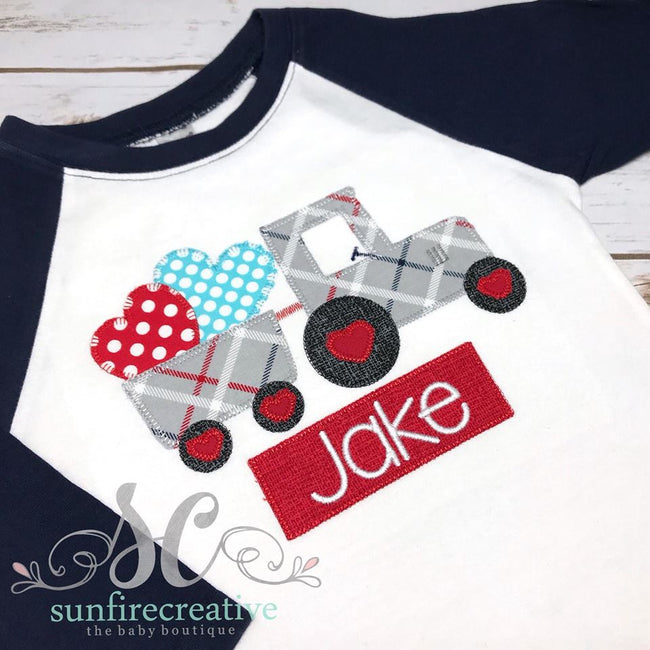 Boy Valentine Shirt - Personalized Valentine Shirt - Sunfire Creative Baby Boutique
