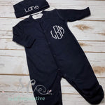 Baby Boy Coming Home Outfit - Footed Baby Sleeper - Sunfire Creative Baby Boutique