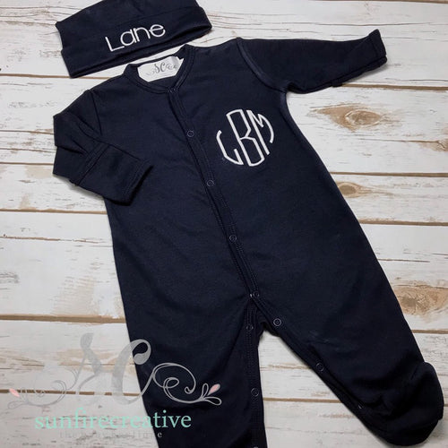 Baby Boy Coming Home Outfit - Footed Baby Sleeper
