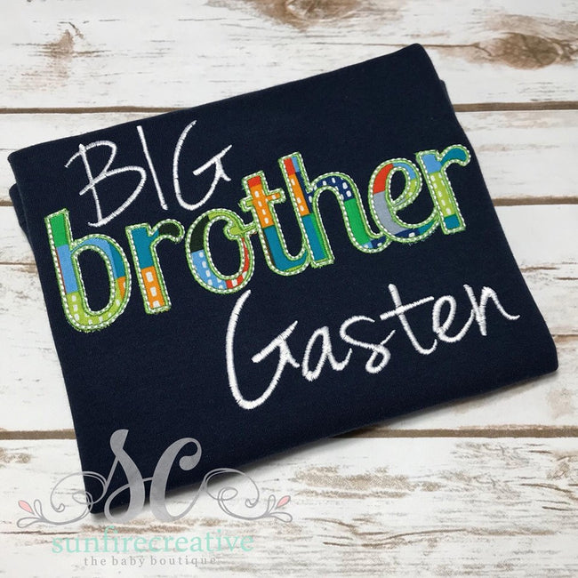 Personalized Big Brother Shirt - Big Brother Little Brother - Sunfire Creative Baby Boutique