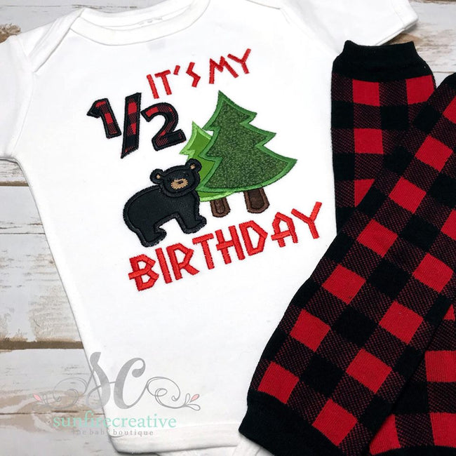It's My 1/2 Birthday Outfit - Woodland Birthday Set