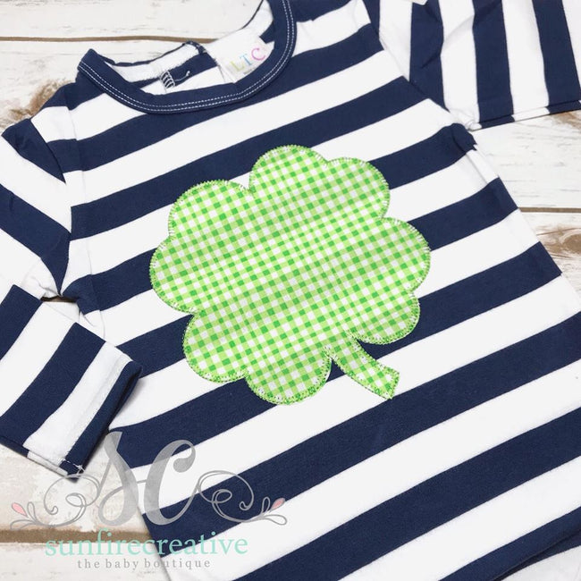 St Patricks Outfit for Boys - Clover Shirt