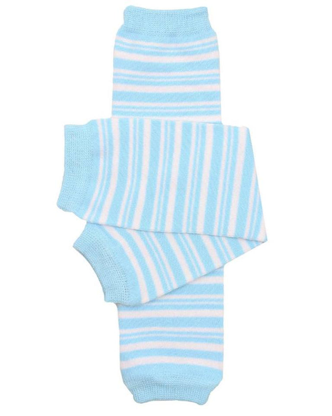 Blue and White Stripe Leg Warmers - Sunfire Creative Baby Boutique