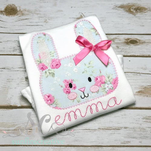 Girl Easter Shirt - Bunny Shirt