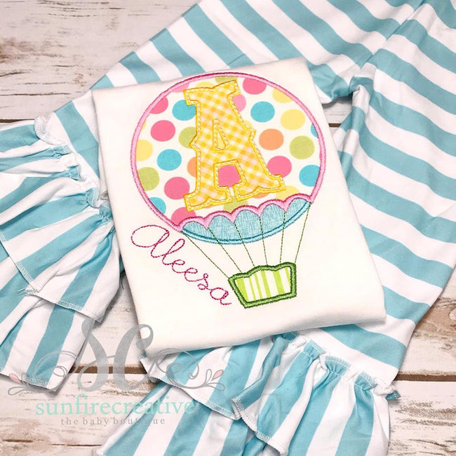 Hot Air Balloon Outfit - Girls Outfit - Sunfire Creative Baby Boutique