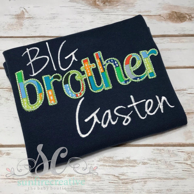 Big Brother Shirt - Sibling Shirt - Sunfire Creative Baby Boutique