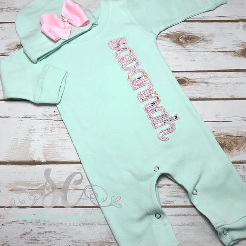 Girl Coming Home Outfit - Personalized Baby Romper