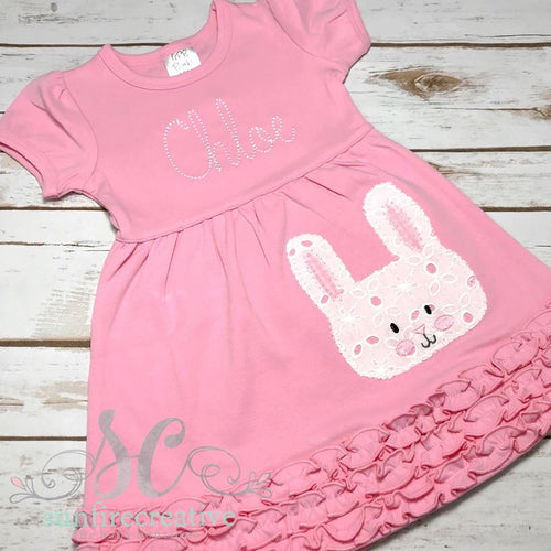 Girls Easter Dress - Bunny Dress