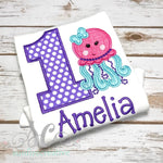 Girl's Birthday Shirt - Octopus Birthday Shirt