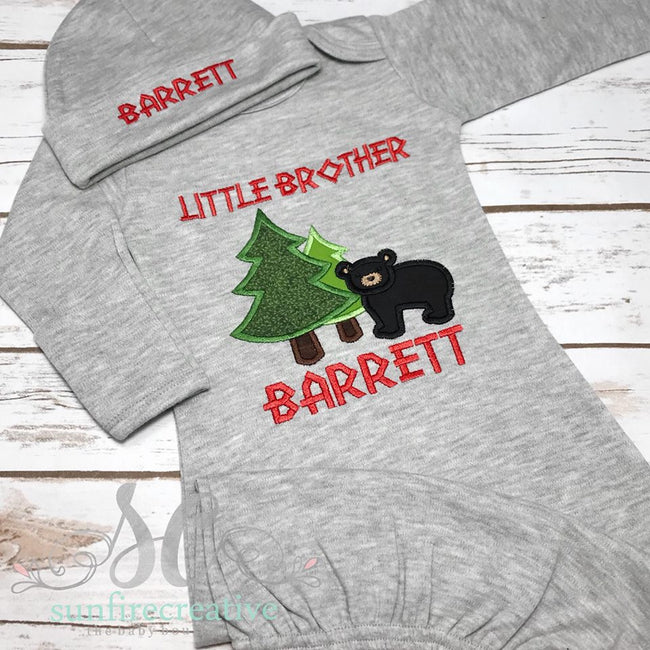 Coming Home Outfit - Baby Brother Outfit - Sunfire Creative Baby Boutique