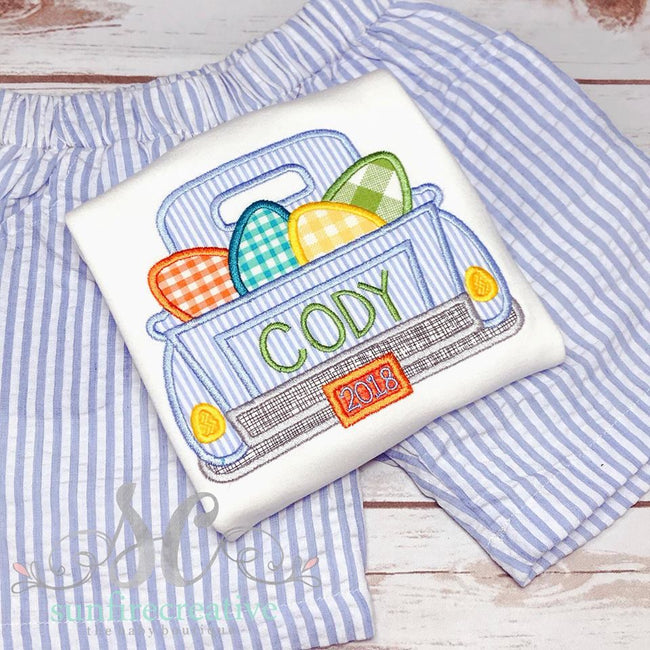 Boy Easter Outfit - Easter Truck Shirt - Sunfire Creative Baby Boutique