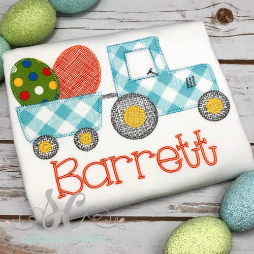 Easter Tractor Shirt - Boy Easter Shirt - Holiday Shirt