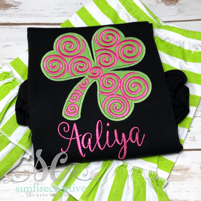 Girl St Patricks Day Shirt -  Girls St Patricks Shirt - Sunfire Creative Baby Boutique