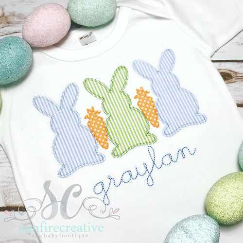 Easter Outfit for Boys - Rabbit trio Shirt