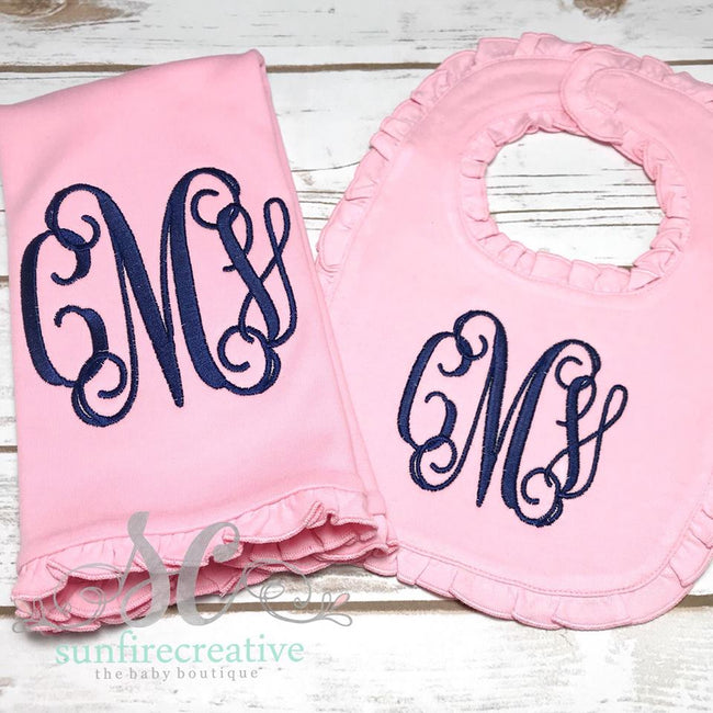 Baby Bib - Burp Cloth - Baby Shower Gift - Sunfire Creative Baby Boutique