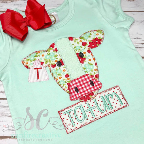 Red and Mint Cow Shirt
