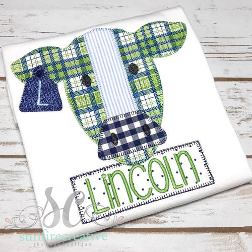 Blue and Green Plaid Cow Shirt