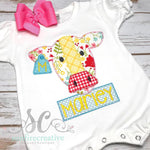 Floral Cow Romper - Sunfire Creative Baby Boutique