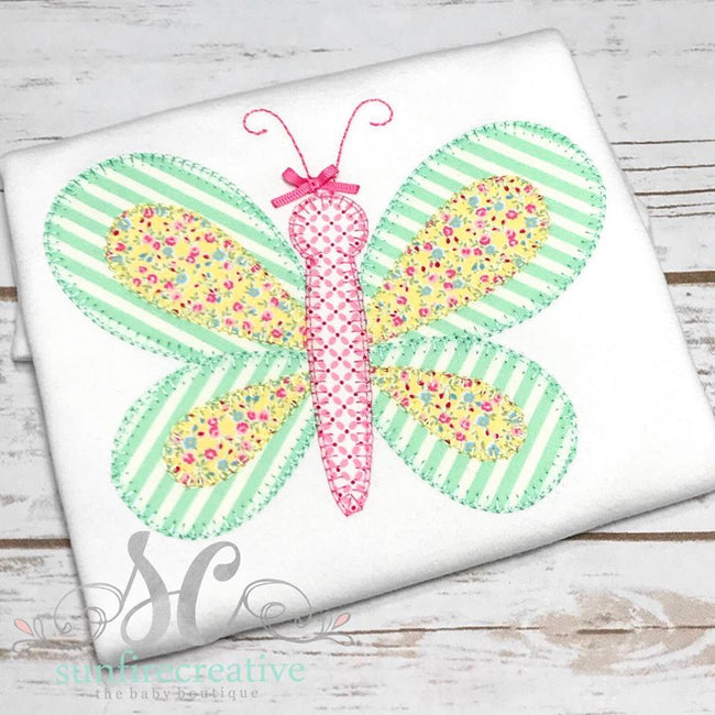 Butterfly Shirt - Girls Summer Shirt - Sunfire Creative Baby Boutique