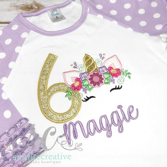Birthday Shirt for Girls - Unicorn Birthday Shirt - Sunfire Creative Baby Boutique