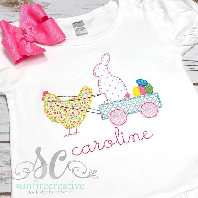 Girls Easter Shirt - Holiday Shirt - Sunfire Creative Baby Boutique