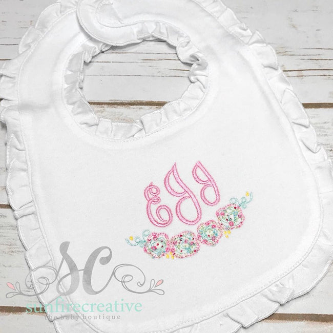 Baby Bib - Burp Cloth - Baby Girl Shower Gift - Sunfire Creative Baby Boutique