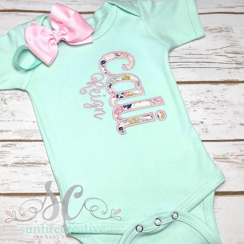 Girl Floral Coming Home Outfit - Mint Coming Home Outfit