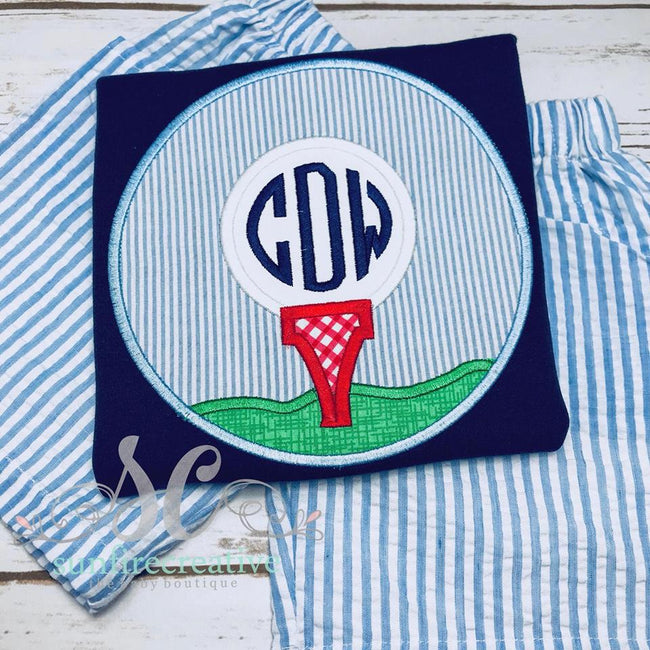 Boys Golf Shirt - Summer Outfit - Sunfire Creative Baby Boutique