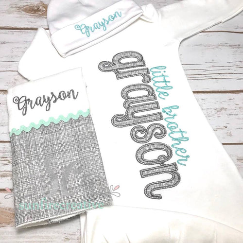 Boy Coming Home Outfit - Baby Gown
