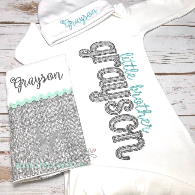 Boy Coming Home Outfit - Baby Gown - Sunfire Creative Baby Boutique