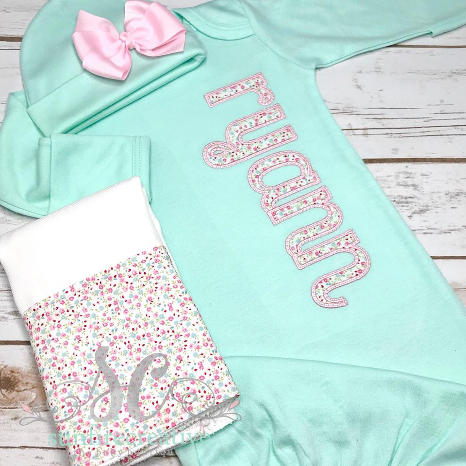 1d5acb0470b2 Baby Girl Coming Home Outfit - Sunfire Creative Baby Boutique