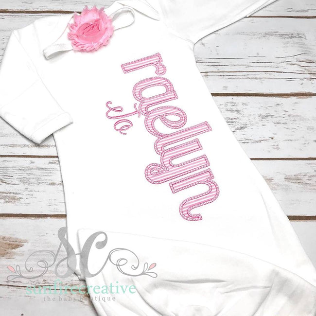 Pink and White Baby Coming Home Outfit - Sunfire Creative Baby Boutique
