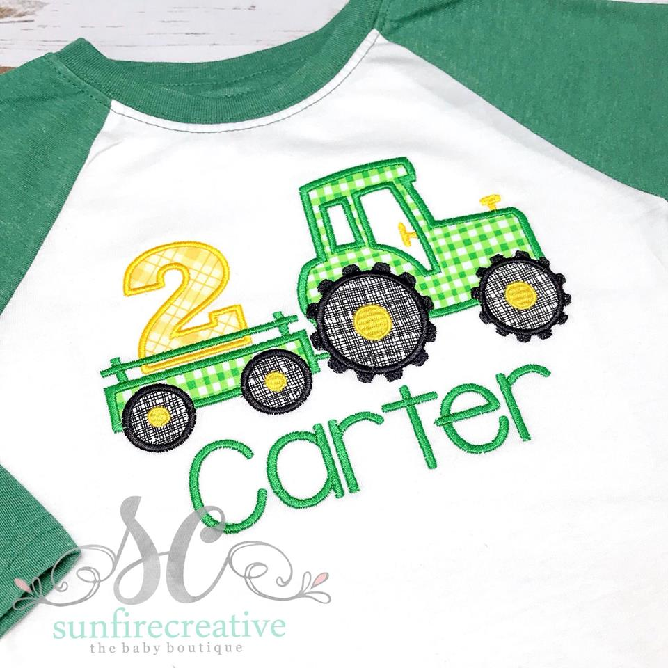 6127b71b7 Boys Birthday Shirt - Tractor Birthday Shirt - Birthday Shirt - Sunfire  Creative Baby Boutique