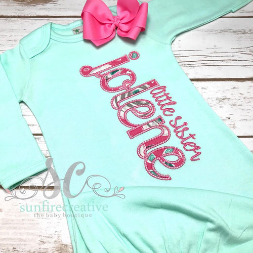 Mint Baby Girl Coming Home Gown